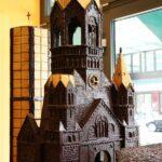 Maqueta de chocolate de una iglesia en Fassbender & Rausch en Berlín