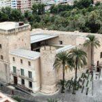 Vistas panorámicas del Castillo-Palacio de Altamira de Elche desde la Torre de la Basílica menor de Santa María