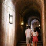 Escalera a la segunda planta del Claustro del Monasterio de los Jerónimos de Belem en Lisboa