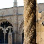 Decoración de columna del Claustro del Monasterio de los Jerónimos de Belem en Lisboa