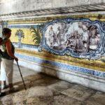 Azulejos en el Refectorio del Claustro del Monasterio de los Jerónimos de Belem en Lisboa
