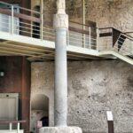 Cruz cristiana en el recinto del MAHE Museo Arqueológico de Elche