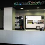 Recepción de la residencia Melon District Marina en Barcelona