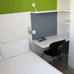 Habitación individual en la residencia Melon District Marina en Barcelona