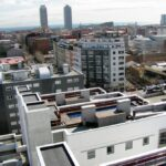Vistas panorámicas de Barcelona desde la residencia Melon District Marina