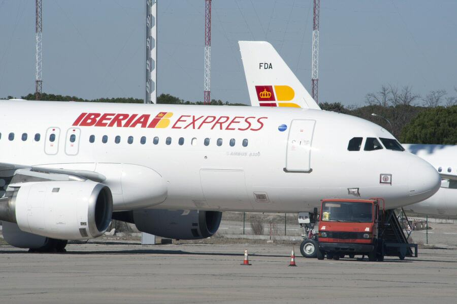 Aviones A320 de la nueva compañía aérea Iberia Express