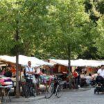 Mercadillo en el barrio turco Kreuzberg de Berlín