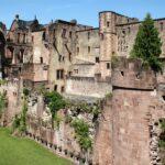 Edificios en ruinas en el Castillo de Heidelberg en Alemania