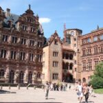 Patio de Honor en el Castillo de Heidelberg en Alemania