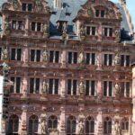 Fachada del Ala de Federico IV en el Castillo de Heidelberg en Alemania
