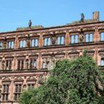 Fachada renacentista en el Castillo de Heidelberg en Alemania