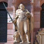 Detalle de la fachada del Ala de Federico IV en el Castillo de Heidelberg en Alemania