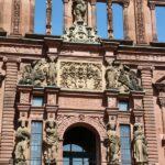 Detalle de la fachada renacencista del Patio de Honor del Castillo de Heidelberg