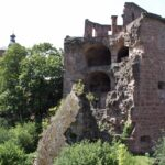 Torre en ruinas en el Castillo de Heidelberg en Alemania