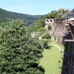 Mirador en el Castillo de Heidelberg en Alemania