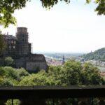 Mirador en los jardines del Castillo de Heidelberg en Alemania