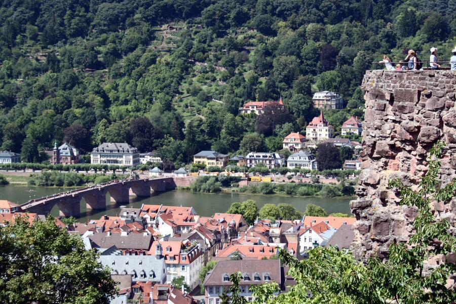 Vistas panorámicas de Heidelberg desde el castillo