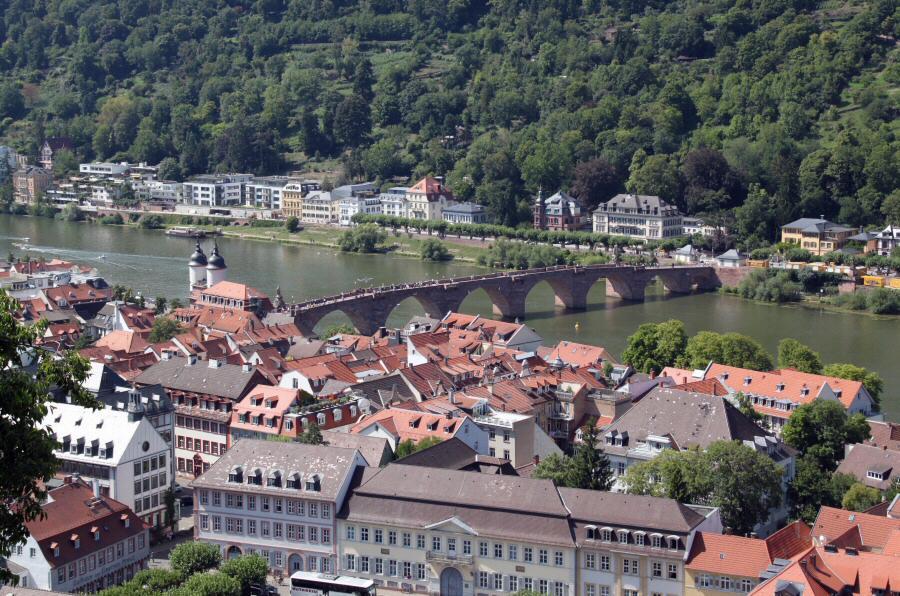 Heidelberg vistas panorámicas desde los jardines del castillo