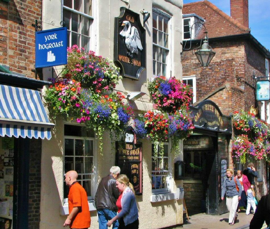 Ciudad medieval de York al norte de Inglaterra