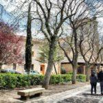 Paseo de la Colegiata de San Cosme y San Damián de Covarrubias en Burgos