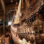 Gran barco del siglo XVII en el museo Vasa de Estocolmo