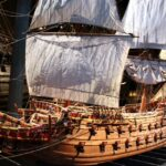Maqueta del barco Vasa en el museo Vasa de Estocolmo