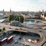 Vistas panorámicas de Estocolmo desde el mirador del Ascensor Katarina