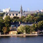 Vistas panorámicas de la isla Djurgarden de Estocolmo desde el Ascensor Katarina