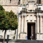 Iglesia en el centro histórico de Plasencia en Extremadura