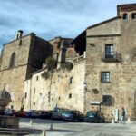 Plaza de San Nicolás en el centro histórico de Plasencia en Extremadura