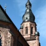 Torre de la iglesia del Espíritu Santo en la plaza del Mercado de Heidelberg