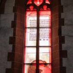 Vidriera en la iglesia del Espíritu Santo de Heidelberg