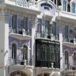 Edificio en la plaza de Rossio en Lisboa