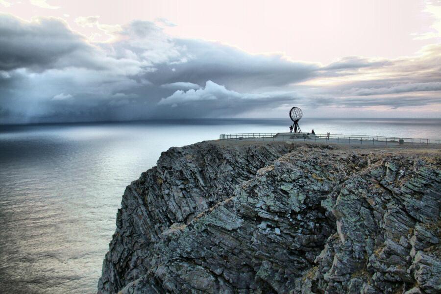 Cabo Norte en el norte de Noruega