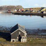 Paisajes cerca del Cabo Norte en el norte de Noruega