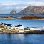 Gesvaer en la isla del Cabo Norte en el norte de Noruega