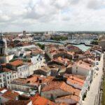 Vistas panorámicas de La Rochelle desde la Torre de la Linterna