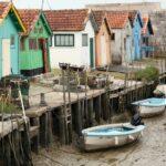 Casas de pescadores de Chateau d´Oléron en la isla de Oléron en Francia