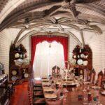 Comedor familiar en el interior del palacio da Pena en Sintra