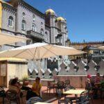 Terraza de la cafetería del palacio da Pena de Sintra