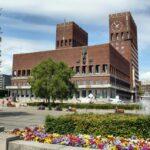 Edificio del Ayuntamiento de Oslo en Noruega