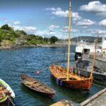Puerto en la zona de los museos de Oslo en Noruega