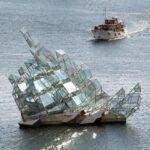 Grupo escultórico junto a la Opera de Oslo en Noruega