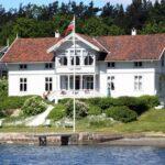 Paisajes del fiordo de Oslo en Noruega