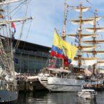 Barco velero de Ecuador en la Tall Ships Race 2012 en A Coruña