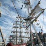 Grandes barcos veleros en la Tall Ships Race 2012 en A Coruña