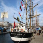 Barco velero inglés en la Tall Ships Race en A Coruña