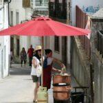 Típica pulpeira en el Mercado Medieval de Mondoñedo en Galicia
