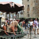 Tiovivo infantil en el Mercado Medieval de Mondoñedo en Galicia