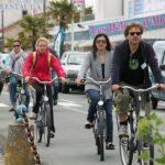 Excursión en bicicleta en el puerto de Boyardville en la isla de Oléron